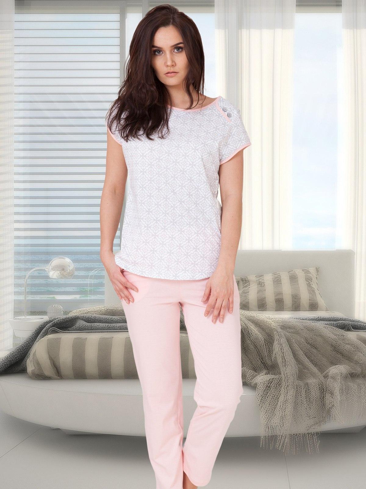 cfa3587c49d3ed Elegancka piżama damska DIANA 619 M-max różowa