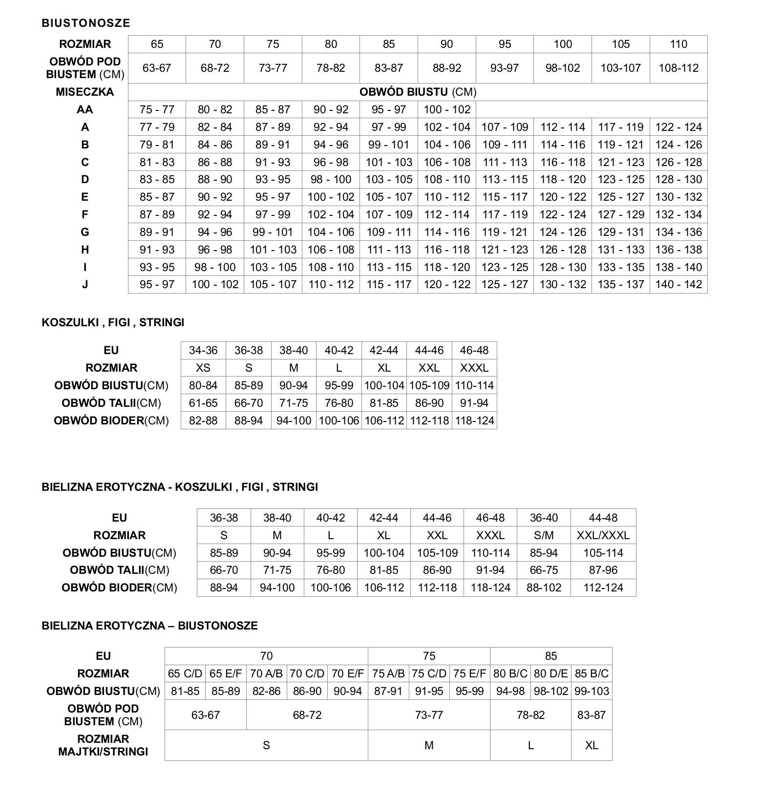 5fb5afeb16d3e0 Tabele rozmiarów - sklep z bielizną all-bielizna.pl