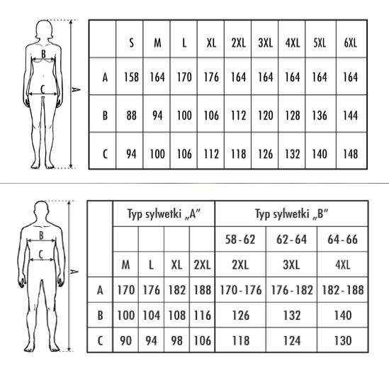 Tabela rozmiarów M-Max